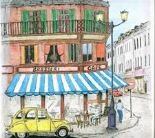 Paris cafe by 521