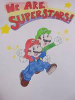 The Mario Bros. by girlofhearts101