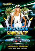 Facebook Summer Party - Flyer and Facebook Cover by LouisTwelve-Design
