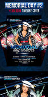 Memorial Day - 4th of July - Flyer + fb Timeline by LouisTwelve-Design