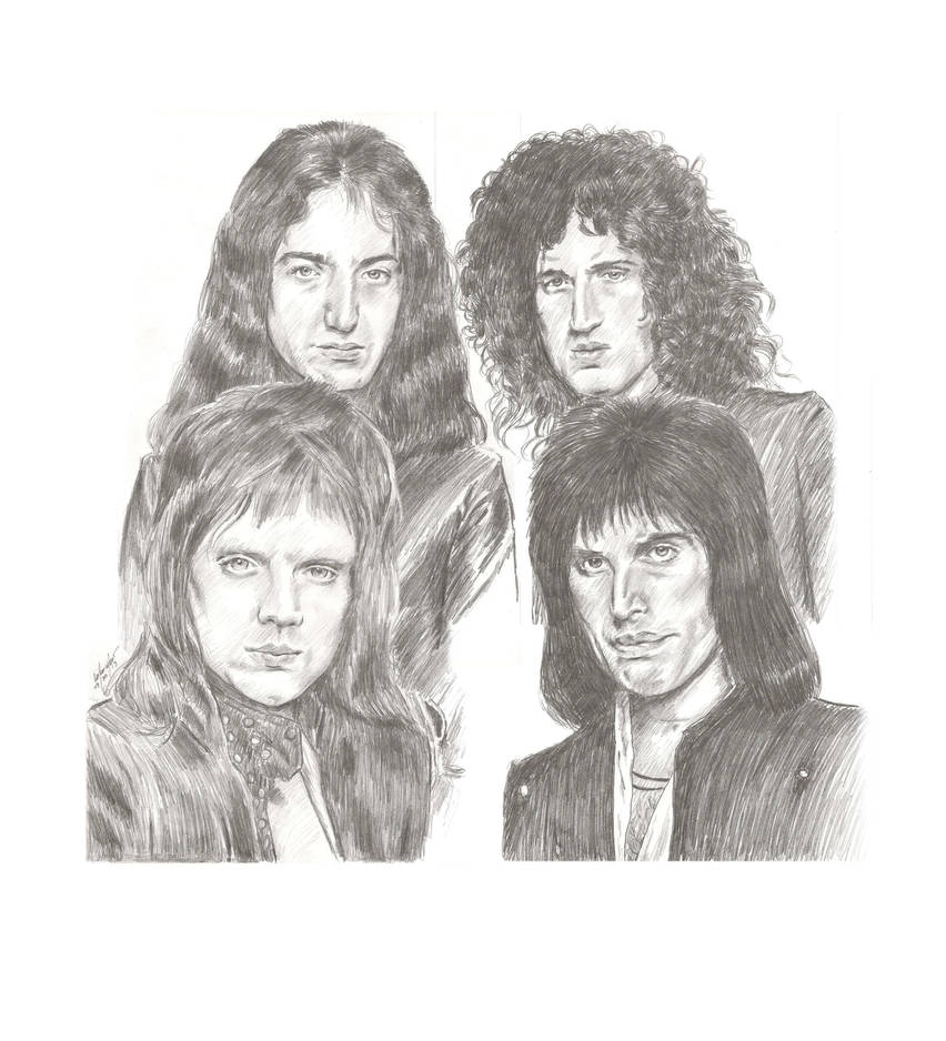 Queen pencil sketch by mozer1a0x