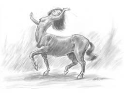Dancing centaur girl by mozer1a0x