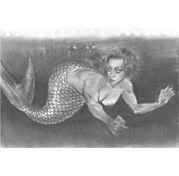 Mermaid looking back by mozer1a0x
