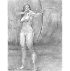 Nude archer front n side by mozer1a0x