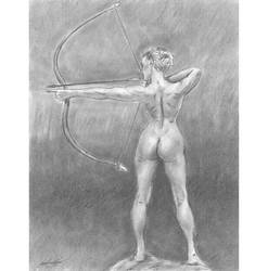 Nude archery backside by mozer1a0x