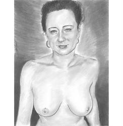 Ange sweet smile topless portrait by mozer1a0x