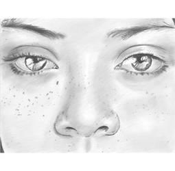Direct staring gaze n freckles by mozer1a0x