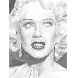 Marilyn sideways upward glance portrait by mozer1a0x