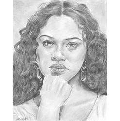 Curls freckles n pout by mozer1a0x