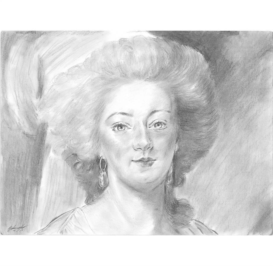 Marie Antoinette fro curls portrait by mozer1a0x