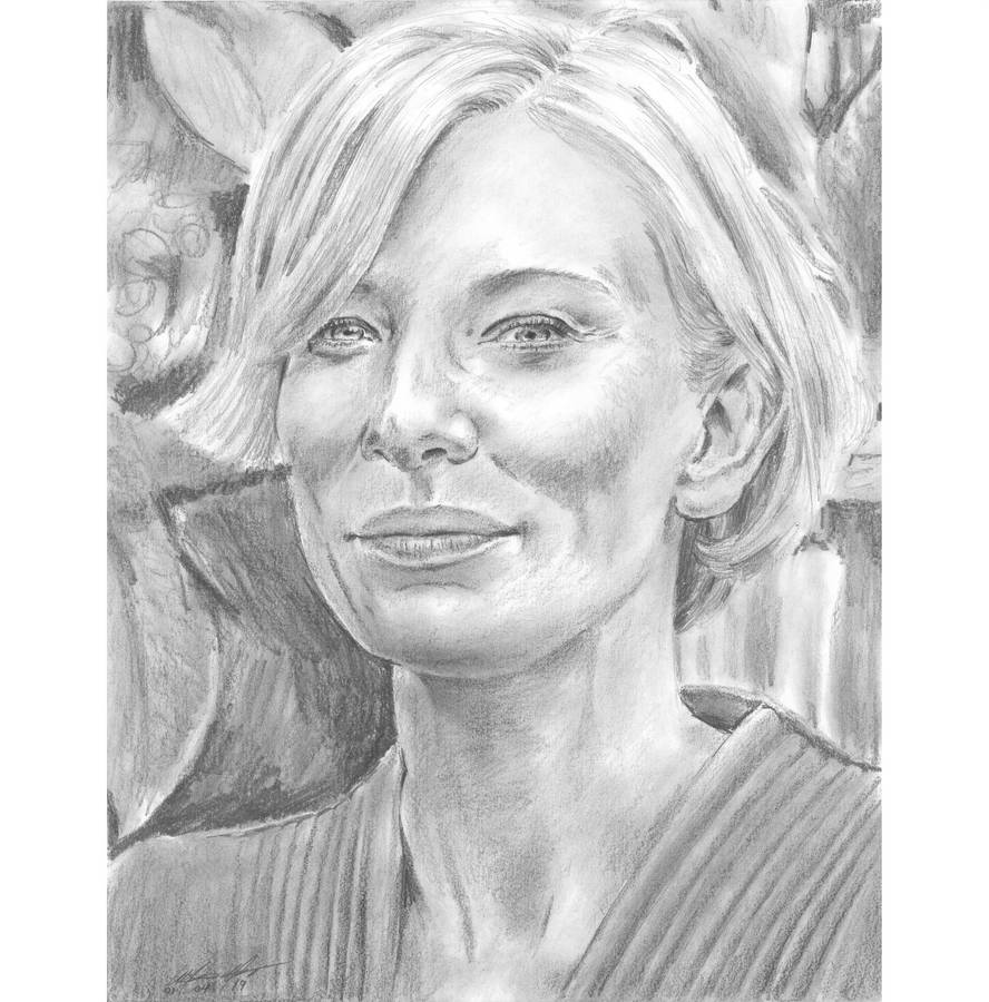Cate Blanchett looking down smile by mozer1a0x