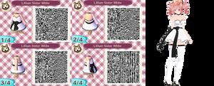 Lilum Sister Teto Animal Crossing QR! (White) by AwesomeSauceUnicorns