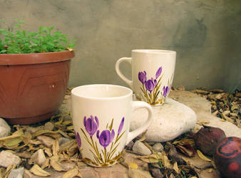 2 cups with crocuses by zlatvic