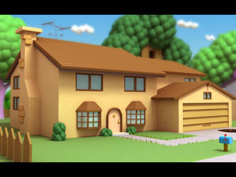 The Simpson's Abode by vikung-fu