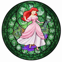 Ariel KH Stained Glass by bummi1