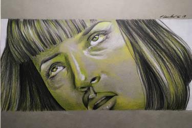 Uma Thurman Pulp Fiction Mia by billyboyuk