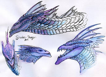 DnD Shadow Dragon - Practising by Silenced-Dreams