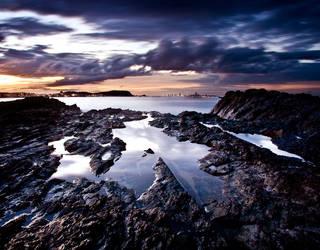 Currumbin Sunset by fightwarnotwars29