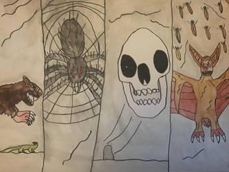 Monsters of Halloween: Decoratiuni by DinoDragoZilla17