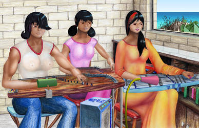 Wong Leisu's guzheng class 1 by MuscleWomen-Planet