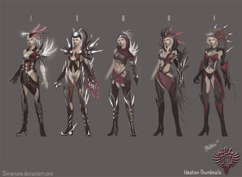 DWIV-DemonHuntress-Thumbnails by Zeronis