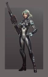 Starcraft Ghost Nova by Zeronis