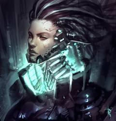 Cyborg Lady by Zeronis