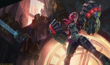 Vi Piltover Enforcer Splash Art by Zeronis