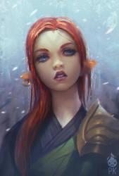 Red Hair Elf by Zeronis