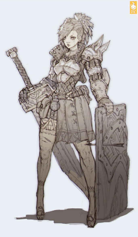 Knight Girl by Zeronis