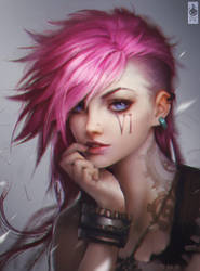 Vi Portrait Fan Art Colored by Zeronis