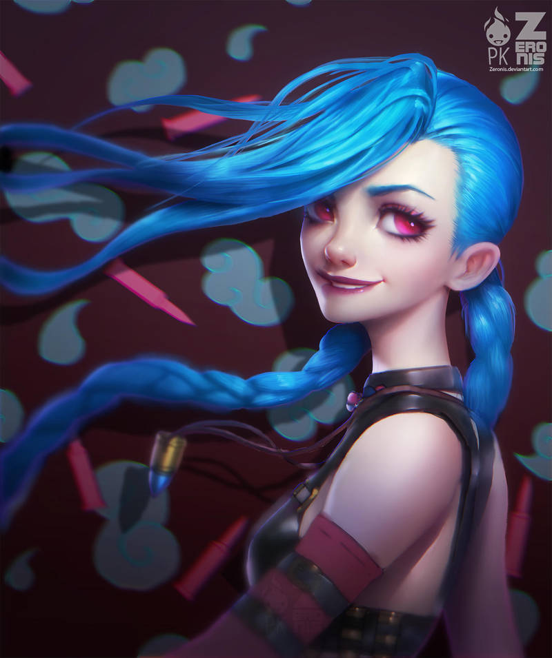 Jinx Portrait Fan Art Zeronis PK by Zeronis