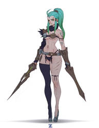 Ventriss Dual Sword - Deathverse pt 2 by Zeronis