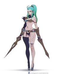 Ventriss Dual Sword - Deathverse pt 2 - 02 by Zeronis