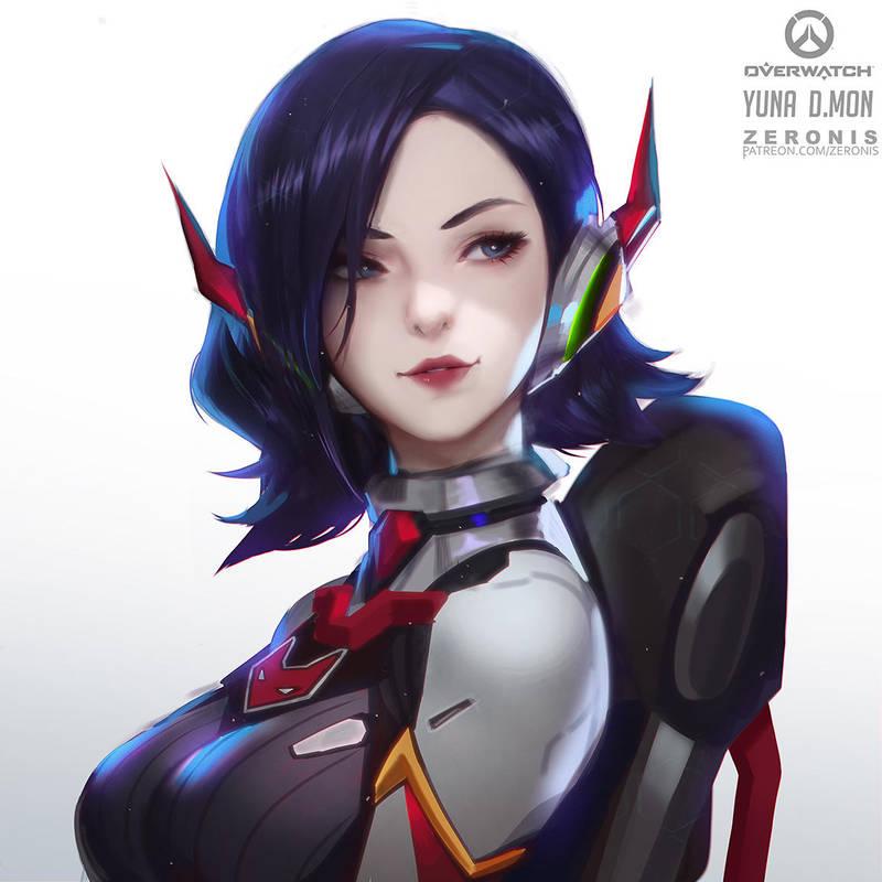 D'MON Yuna Overwatch by Zeronis