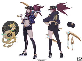 Akali KDA Popstar Concept Front Shot Final 01 by Zeronis