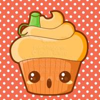 Pumpkin Cupcake by pai-thagoras