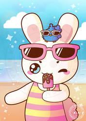 Summer Bunny by pai-thagoras