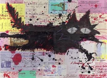 Black Evil Cat by moshi-ZUA