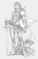Elven Dragoon by staino