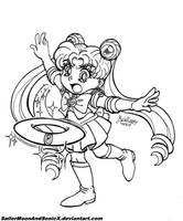 Inktober '17 #1 - Moon Tiara Action! by SailorMoonAndSonicX