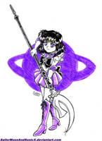 Inktober '17 #6 - Sailor Saturn by SailorMoonAndSonicX