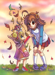 Fun in the Fall by SailorMoonAndSonicX