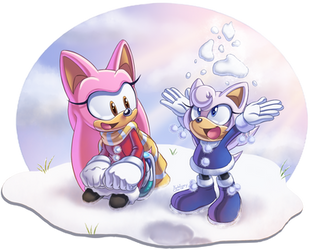 ~Playing in the Snow~ by SailorMoonAndSonicX