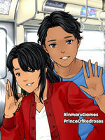 On the Subway: Jandro and Lucy by TheEyeShield