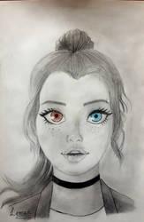 Heterochromia iridum by Lim0na