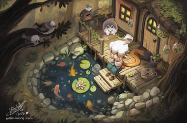 Little Koi Pond by BettyKwong