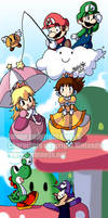 Above the Clouds- Mario World by BettyKwong
