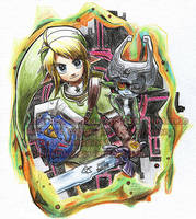 Link and Midna by BettyKwong