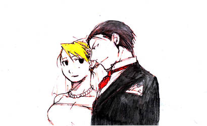 roiai wedding colored by Natsumi726